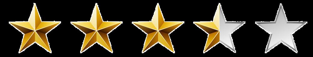 3.5-4 Stars on Amazon