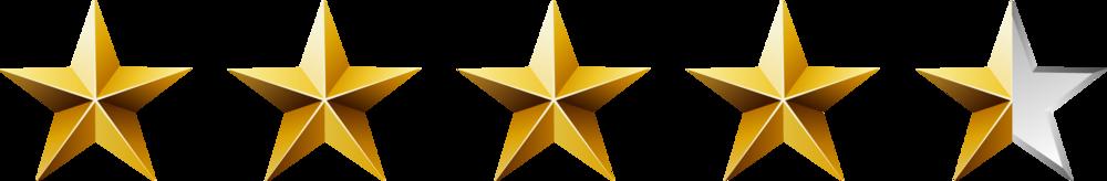 4.5-5 Stars on Amazon