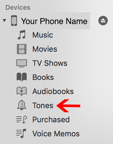 Step 3 Mac - With phone plugged in to computer, drag and drop selected file from Download Folder to My Device > TonesOnce complete, from your phone you should be able to use your new ringtone for phone calls and text messages