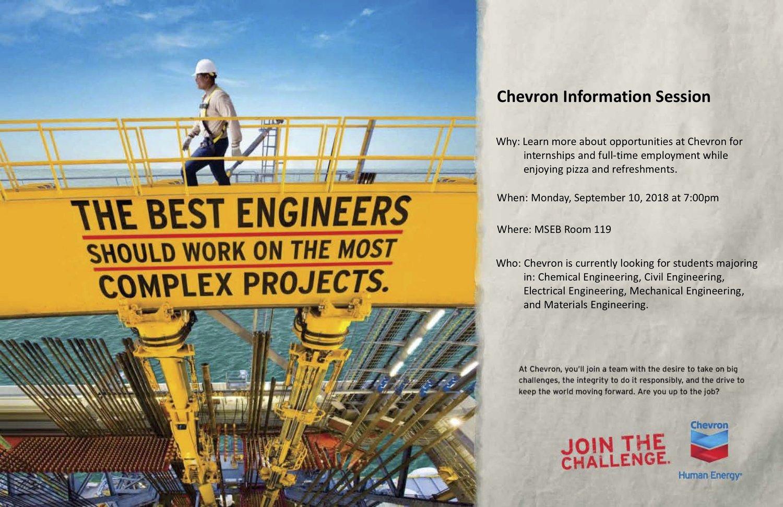 Chevron Recruiting at Illinois — SWE Illinois