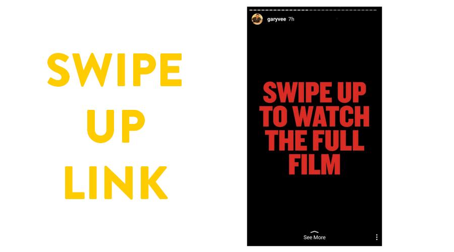 Swipe up link