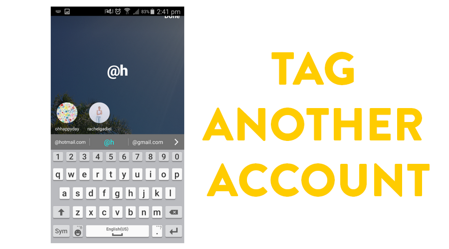 Tag another account