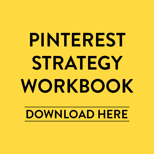 PINTEREST STRATEGY WORKBOOK | HONEY POT DIGITAL