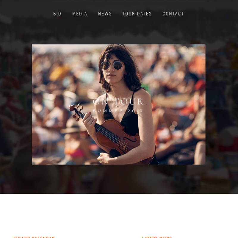 Aria Squarespace template | Honey Pot Digital