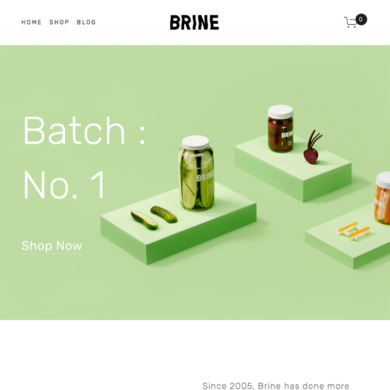 Brine Squarespace template | Honey Pot Digital