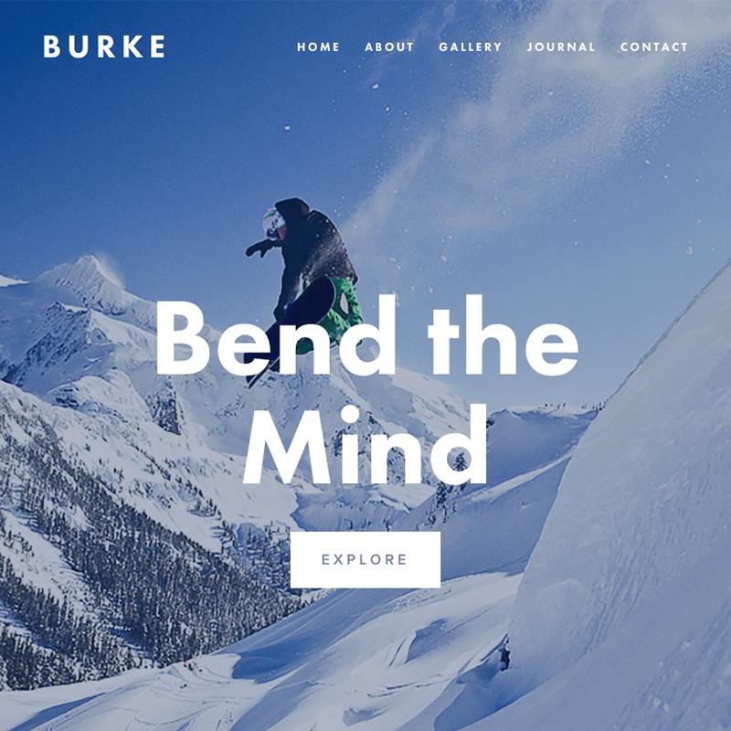 Burke Squarespace template | Honey Pot Digital