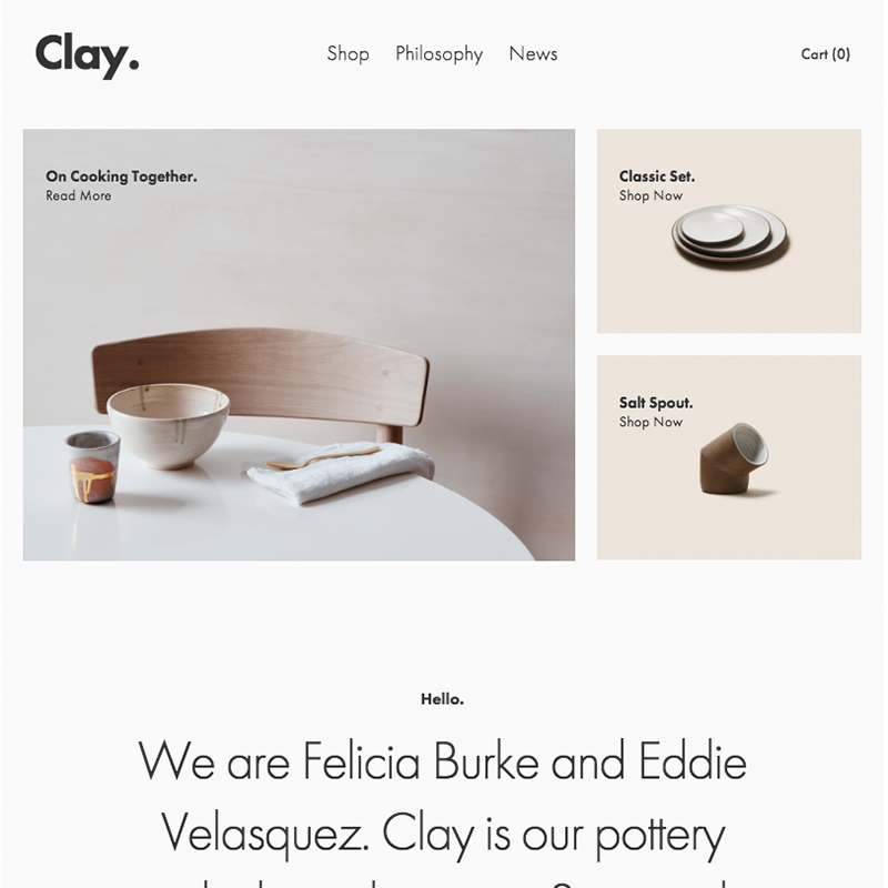 Clay Squarespace template | Honey Pot Digital