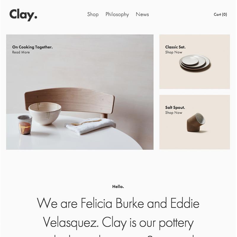 Clay Squarespace template | Honey Pot Digital