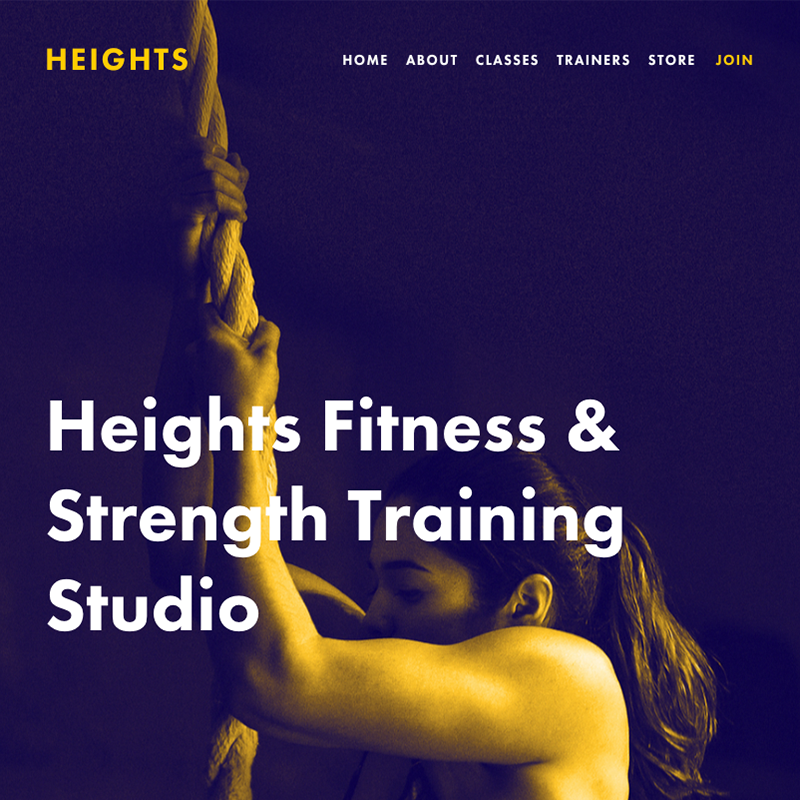 Heights Squarespace template | Honey Pot Digital
