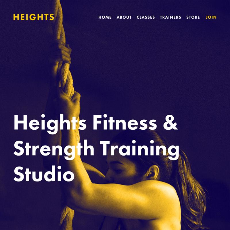 Heights Squarespace template | Honey Pot Digital