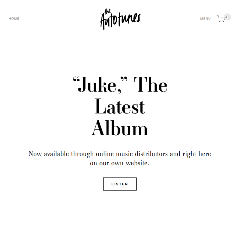 Juke Squarespace template | Honey Pot Digital