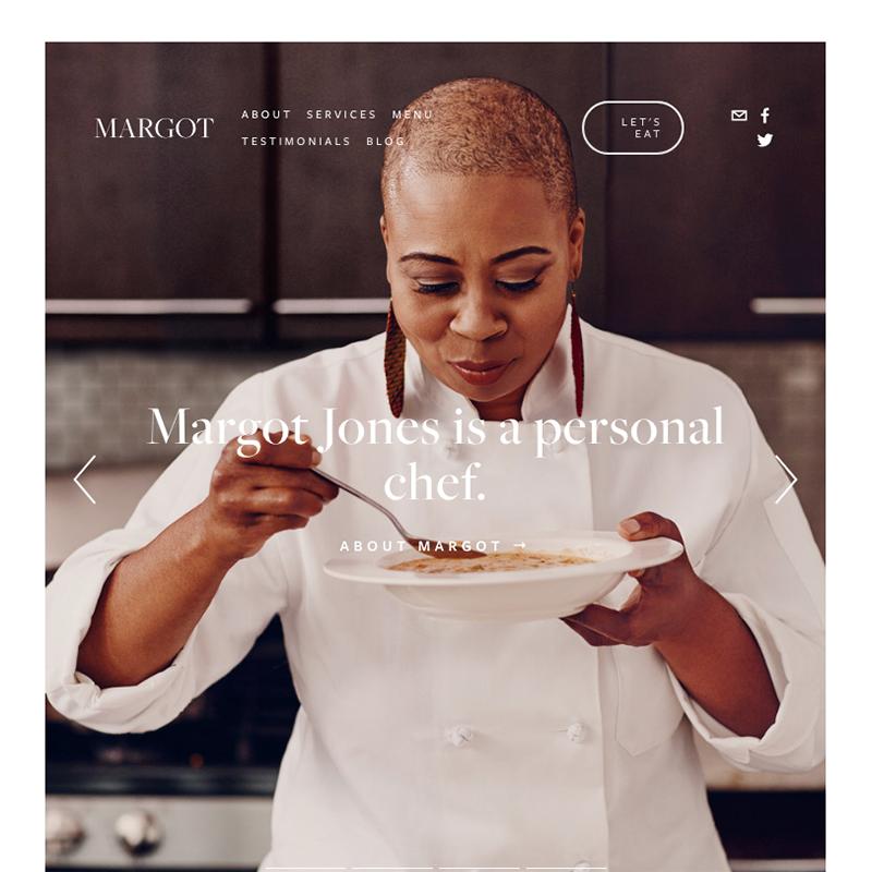 Margot Squarespace template | Honey Pot Digital