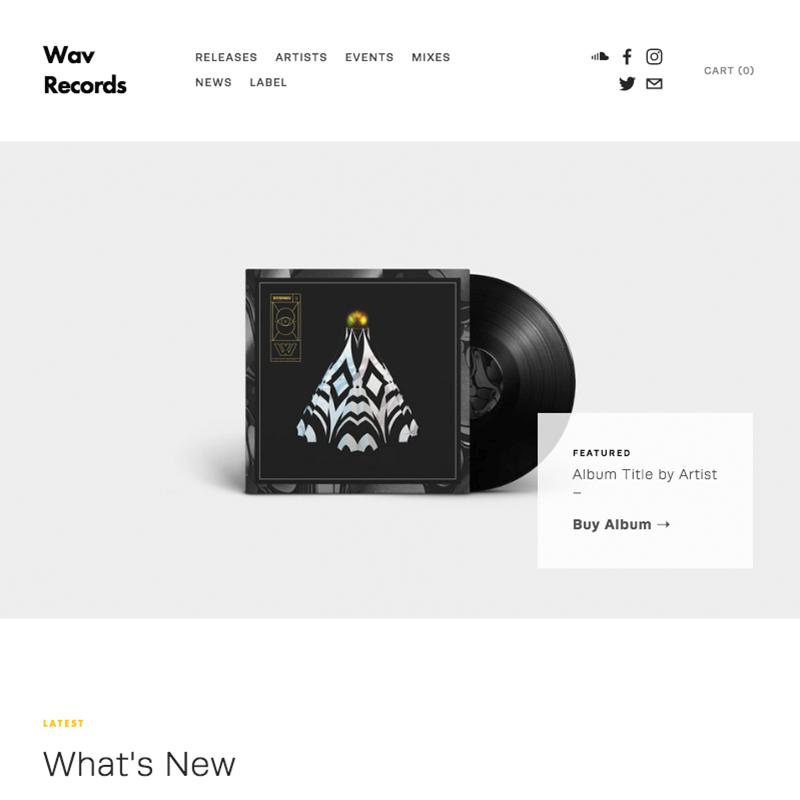 Wav Squarespace Template | Honey Pot Digital