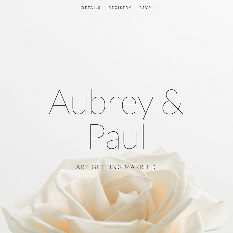 Aubrey Squarespace template | Honey Pot Digital