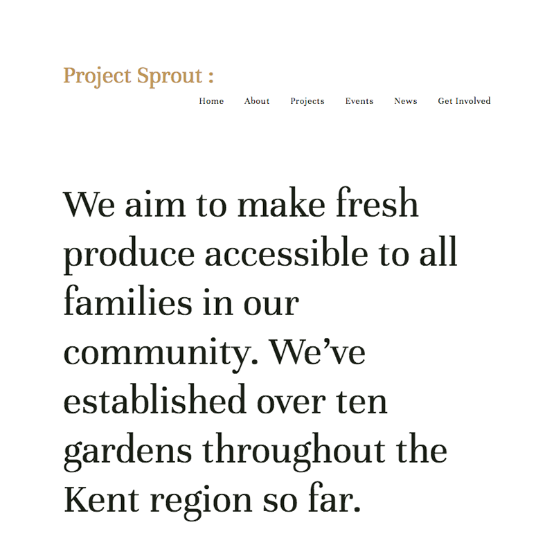 Kent Squarespace template | Honey Pot Digital