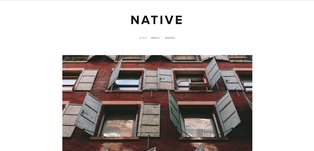Native Squarespace template