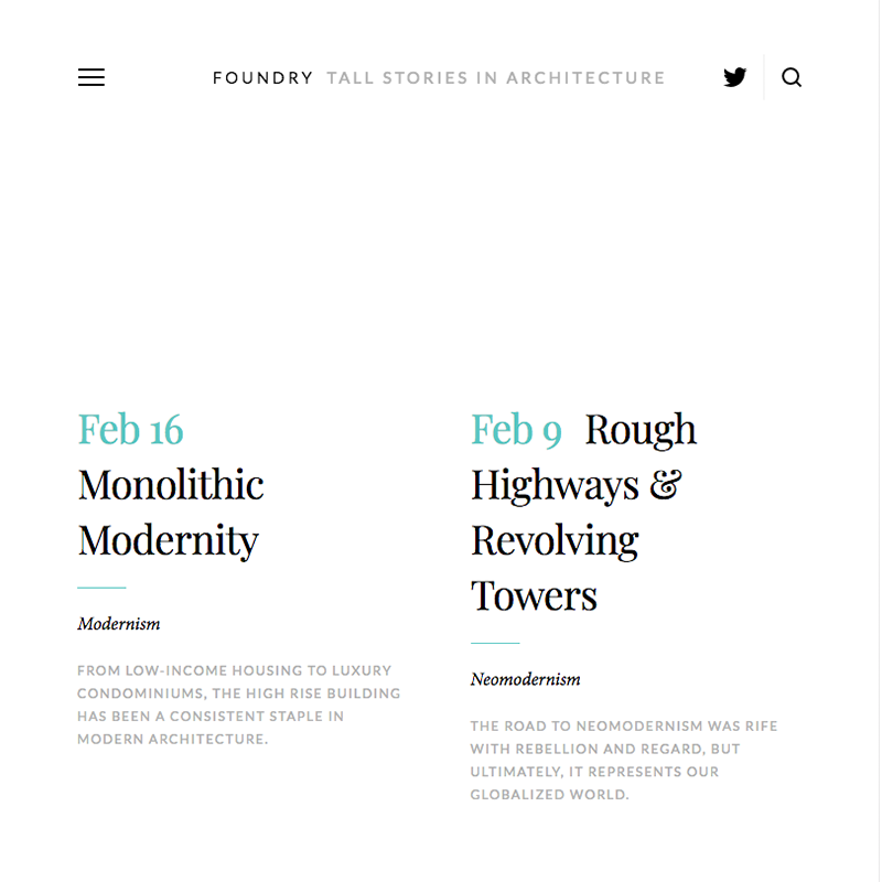 Foundry Squarespace template
