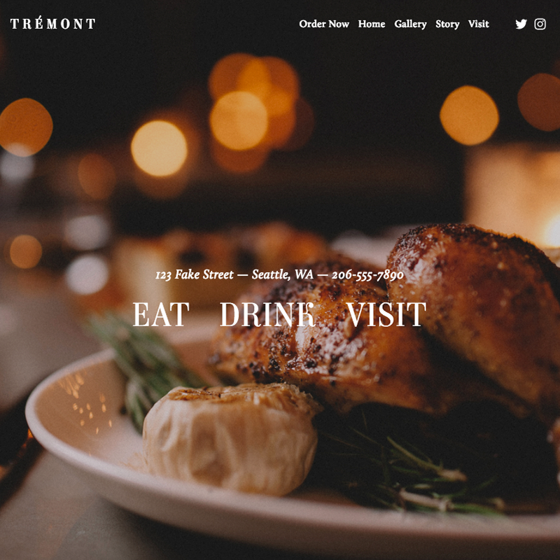 Tremont Squarespace template