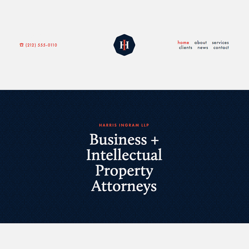 Harris Squarespace template