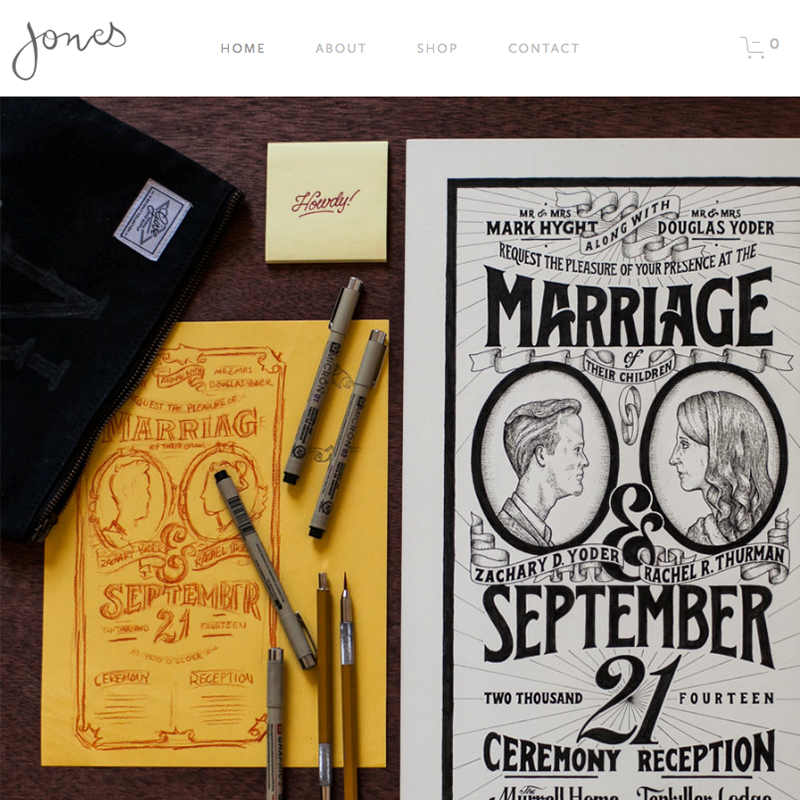 Jones Squarespace template