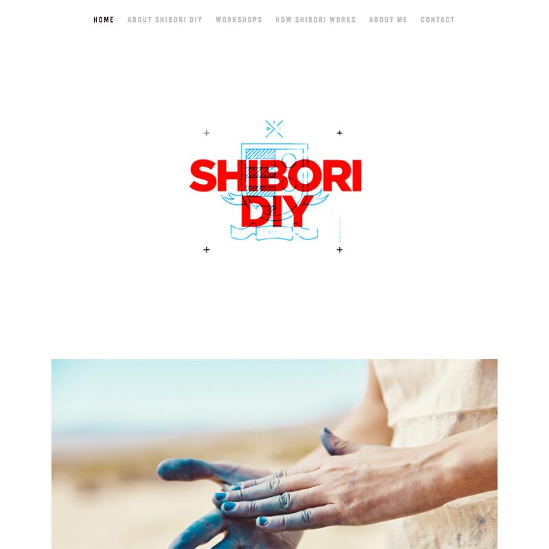 Shibori Squarespace template