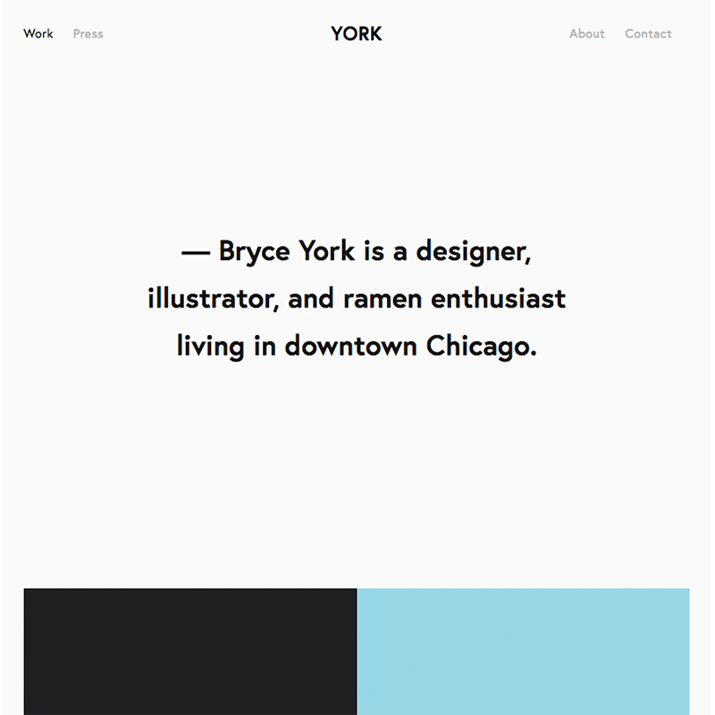 York Squarespace template