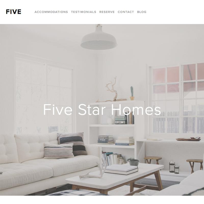 Five Squarespace template | Honey Pot Digital