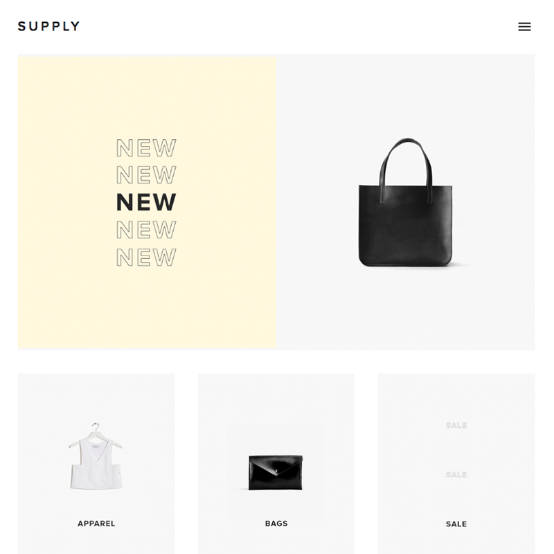 Supply Squarespace template