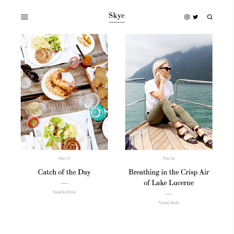Skye Squarespace template family | Honey Pot Digital