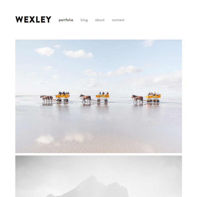 Wexley Squarespace template
