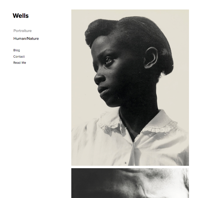Wells Squarespace template
