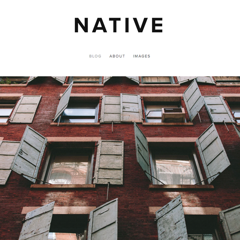 Native Squarespace template