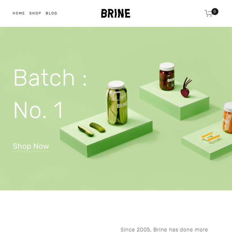 Brine Squarespace template