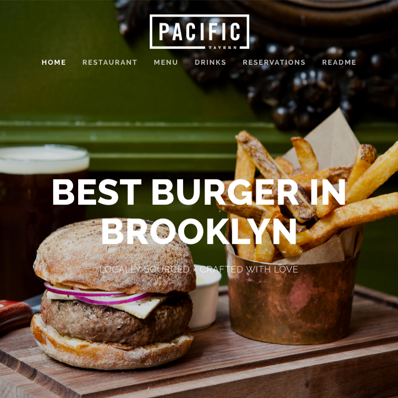 Pacific Squarespace template family