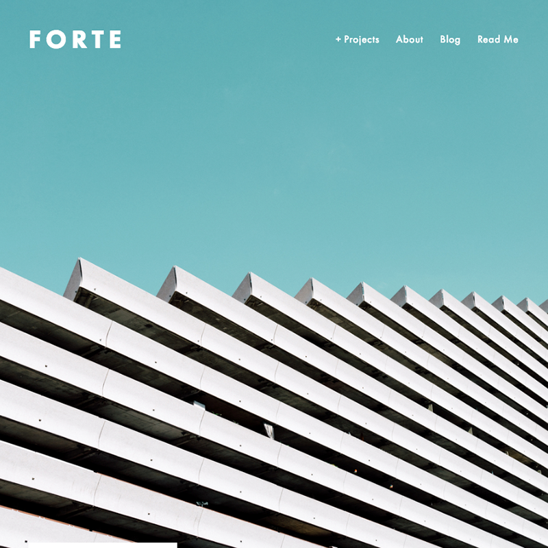 Forte Squarespace template