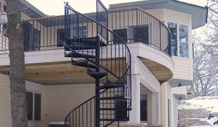 Spiral Deck Staircase