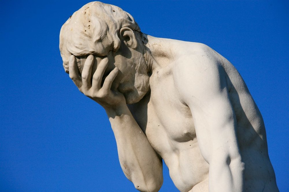 Email fail: A timeless feeling. Image credit: Paris Tuileries Garden statue photo via Wikimedia Commons.