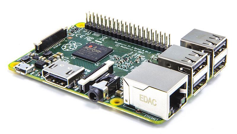 Raspberry Pi via Wikimedia Commons https://commons.wikimedia.org/wiki/File:Raspberry_PI.jpeg