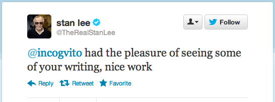 Tweet from Stan Lee