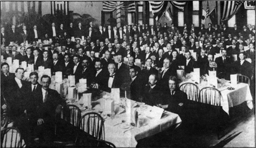 Methodist Men's dinner in the Simpson Room in 1920