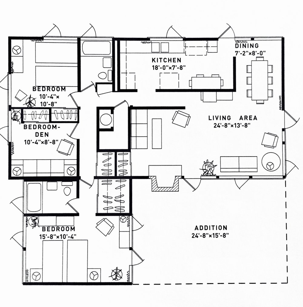 RM3212 Floor Plan with Addition