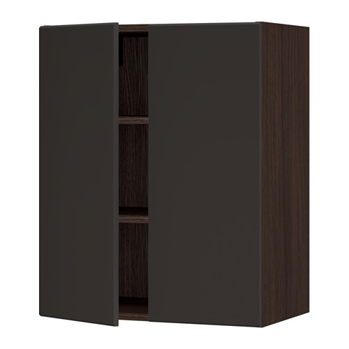 IKEA | Kungsbacka Cabinet Fronts, Sektion Cabinet Base in Wood Effect Brown