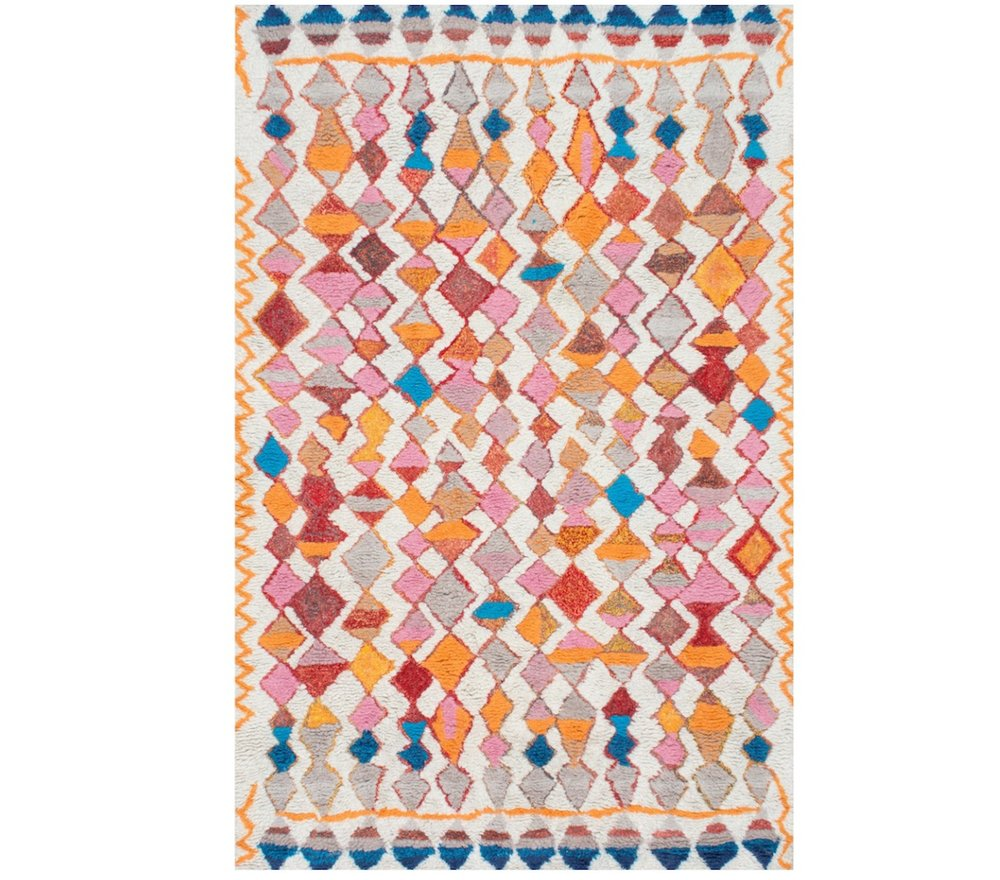 Overstock.com | nuLOOM Soft and Plush Handmade Moroccan Diamond Multi Shag Rug (5' x 8')