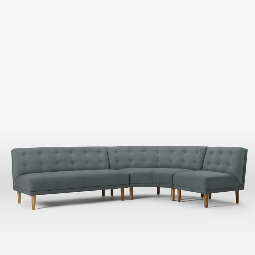 West Elm | Retro Rounded Sectional Couch