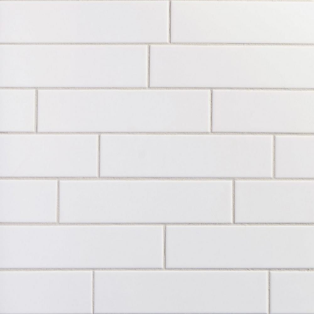 "Floor & Decor | White Meringue Ceramic Tile 3"" x 12"""