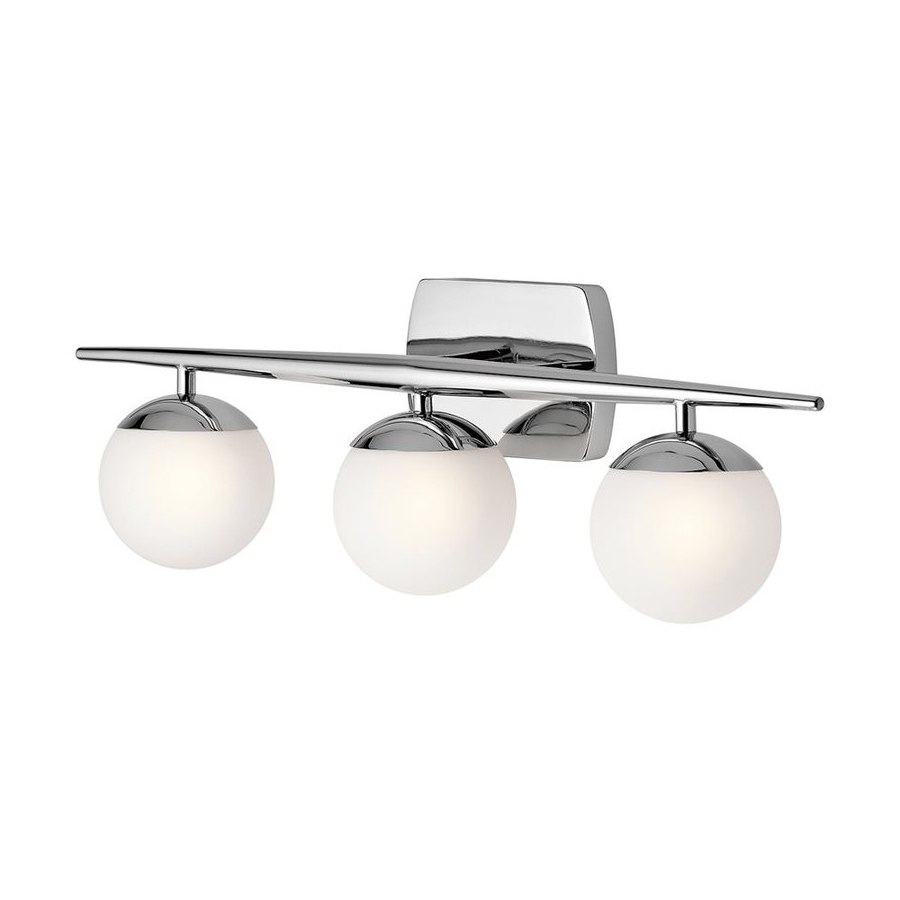 Lowes | Kichler Jasper Chrome Orb Vanity Light