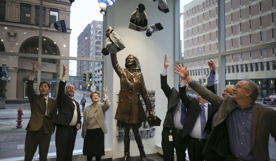 Mary Tyler Moore is currently in storage, but is expected to return to its spot on Nicollet Mall this summer (click on picture for the story about the statue)