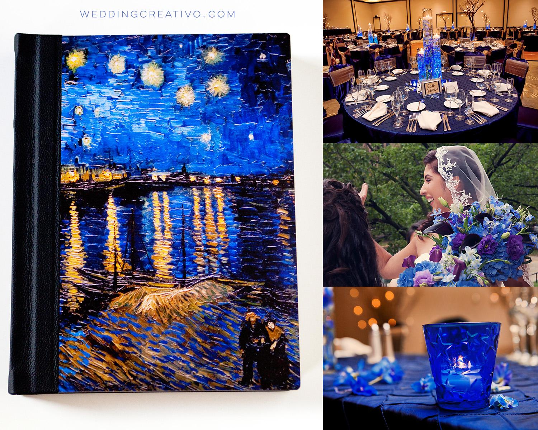 starry night theme wedding album creativo