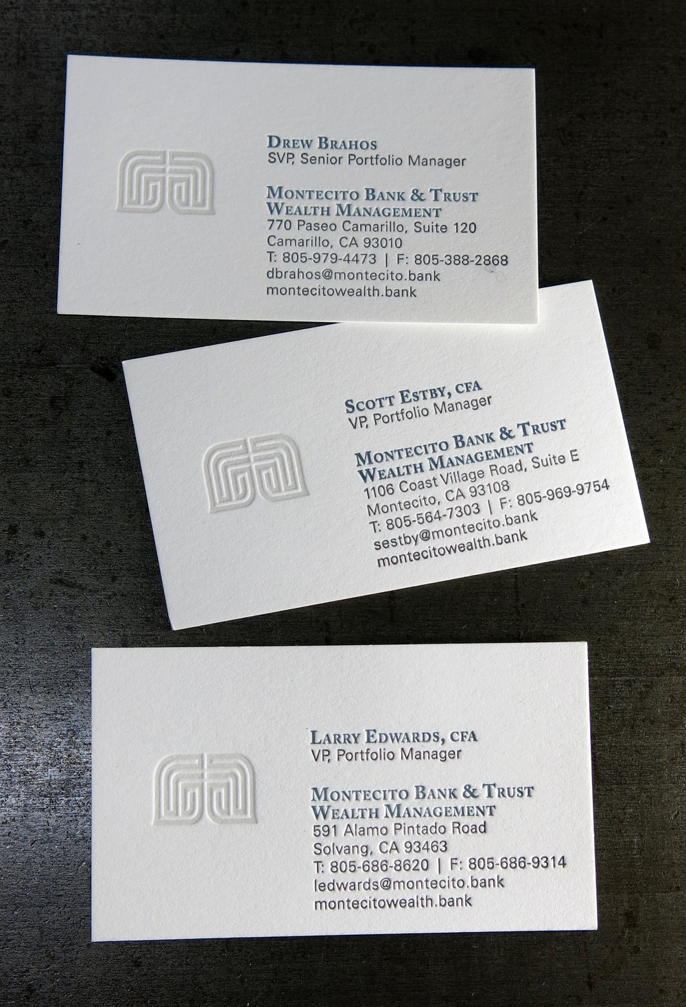 Stationery business cards lumino press montecito bank img2162g colourmoves