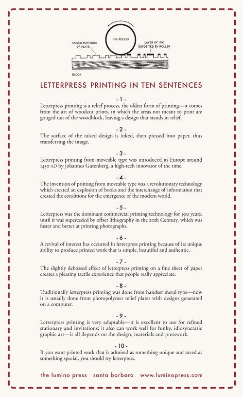 Letterpress Printing Lumino Press